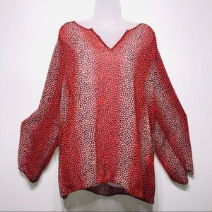 "Lane Bryant Sheer ""Cheetah"" Print Top Size 22/24"
